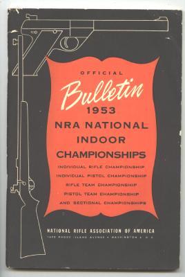 OLD Original  NRA National Indoor 1953 Championships Booklet
