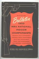 OLD Original  NRA National Indoor 1953 Championships Booklet
