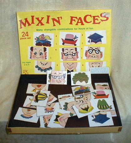 Old Mixin Faces Tee Pee Toys Game 24 piece Set Complete