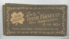 Old Men's Handkerchief Box Irish Flaxette Linen Hankies