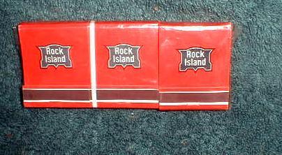 Rock Island Railroad 6 NOS Paper Matchbooks Railway