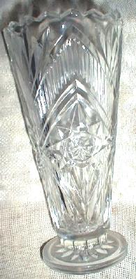 Old Czechoslavakian Crystal Vase Pedestal Base