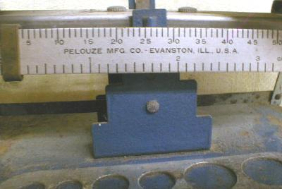 Old BALANCE Scale with Weights Pelouze Mfg. Co.