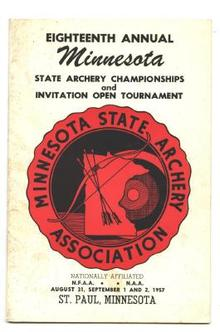 1957 Minnesota State Archery Assn. Championship Booklet