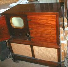 1947 RCA Victor Television Radio & Victrola in Cabinet