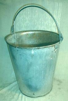 Old Milk Pail Metal 3 Gallon - Flower Pot WATERTIGHT!