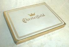 Old CHESTERFIELD Cigarette Pocket Tin Container Holder