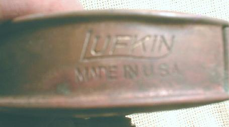 LUFKIN Cloth Tape Measure 50 ' Metal Case - Old Antique