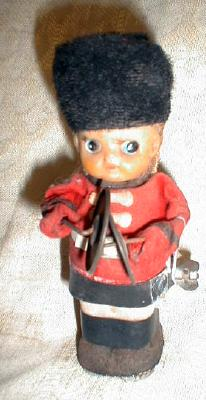 Old Tin Windup Toy Cymbal Player Boy - Made in Japan