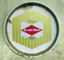 Old GRAIN BELT Beer Advertising Round Metal Tray