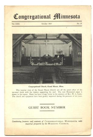 4 Old Religious Booklets Congregational Minnesota