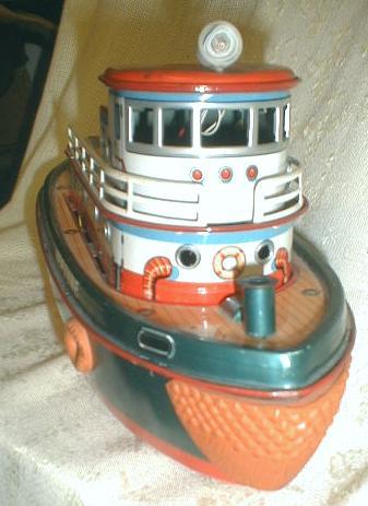 Tugboat MODERN TOYS Tin Batt-Op  - NEPTUNE - 1950's