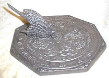 GARDEN SUNDIAL Flowers Iris Tulip Rose New Cast Metal