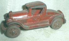 Old Cast Iron Toy Car 1930 Coupe  A.C. Williams - ORIGINAL