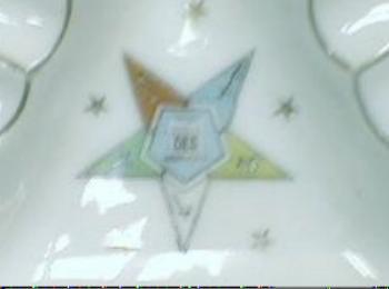 Order Eastern Star OES Old Lefton Ashtray Souvenir