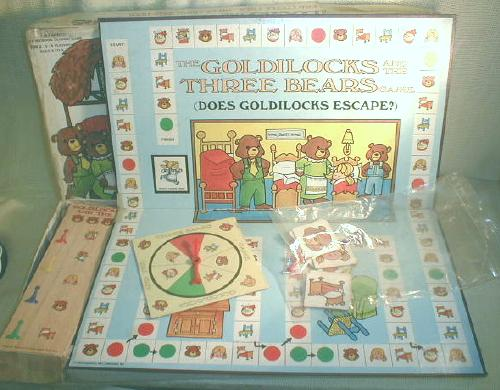 Goldilocks & Three Bears Vintage Game Cadaco Storybook