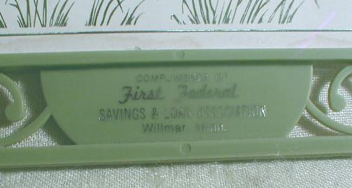 First Federal S & L Bank Willmar Minnesota  Old Advertising Trivit