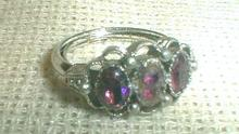 AVON Amethyst Ring Vintage Costume Jewelry  Size 6