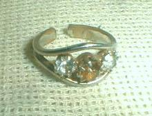 Topaz Color Ring Adjustable Vintage Costume Jewelry