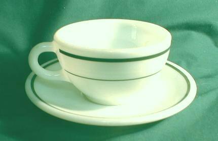 Old Cup & Saucer CORNING Decor PYREX Double Tough