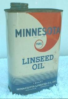 Old MINNESOTA Linseed Oil Co. Minneapolis Tin Can 1 Quart