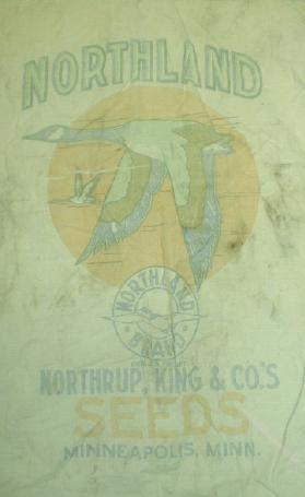 Old NORTHLAND Feed Sack Goose NORTHRUP King Mpls MN