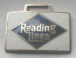 Railroad WATCH FOB - Reading Lines