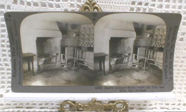 Stereo View Card - Burn's Birthplace, Scotland