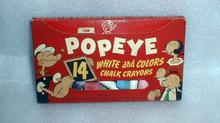 VINTAGE Colorful OLD Box of POPEYE Chalk