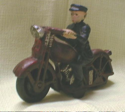 CAST IRON Motorcycle Cop