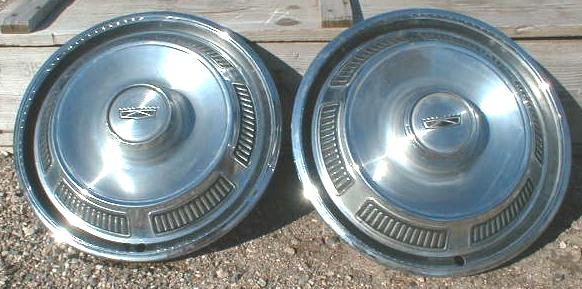 Set of 2 Hub Caps for 1965? FORD
