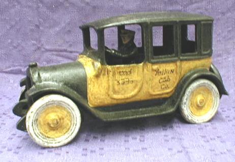 Arcade CAST IRON Yellow Cab - Authentic Model