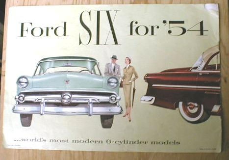 FORD Six for 1954 Sales Brochure