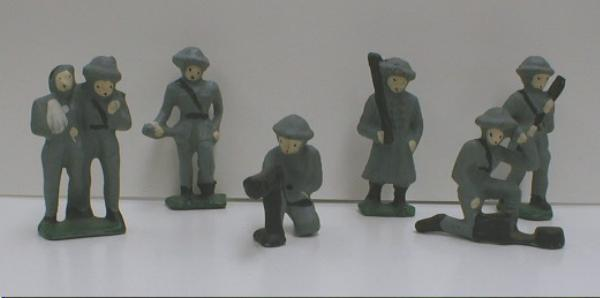 CAST IRON Soldiers - 6 Piece Set