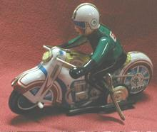 Tin Windup Motorcycle with Rider - Made in China