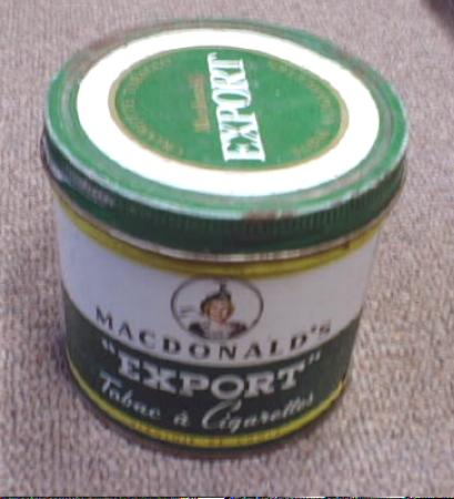 OLD! MacDonalds EXPORT Cigarette Tobacco  Tin