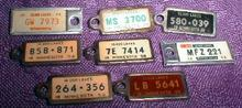 8 OLD! Minnesota DAV License Tags