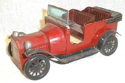 Old 1915 Model T Ford Tin Friction Toy WORKS