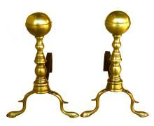 Ball Top Andirons