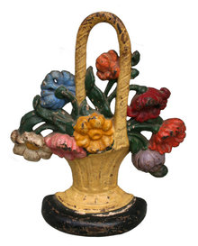 Basket Of Flowers, Doorstop