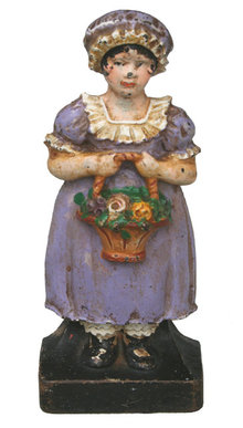 Lady Holding Flower Basket Doorstop
