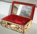 Antique Sailor Made Shell Work Box
