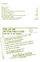 Auction Prices of American Artists, 1986-1988