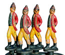 Hessian Soldier Fireplace Tools
