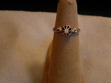 Dainty Victorian 18kt yellow gold and rose cut