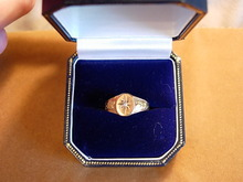 Sweet Circa 1900 Diamond and Yellow Gold Ring