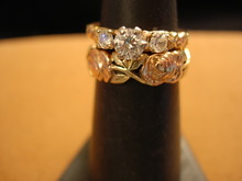 Sweet TriColor 14Kt Gold and Diamond Wedding