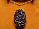 Art Deco Circa 1930 Lapis and 14Kt Yellow Gold