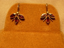 Really Pretty Victorian Garnet Earrings