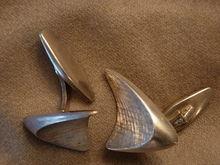 Georg Jensen 1950s Abstract Silver Cufflinks